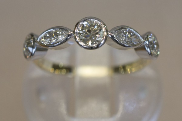 Old to New Jewellery - Eternity Ring with Marquise Diamonds